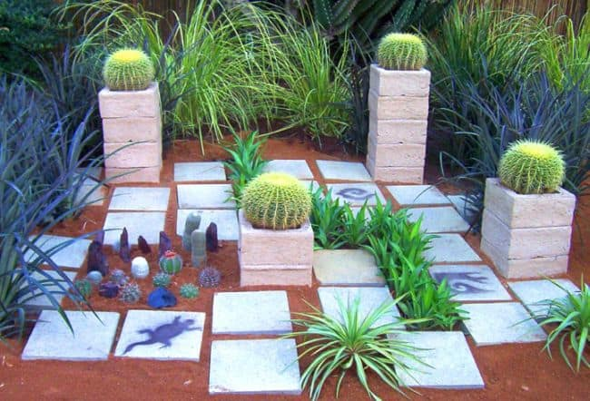 31 incredible small garden design ideas on a budget for Geometric garden designs