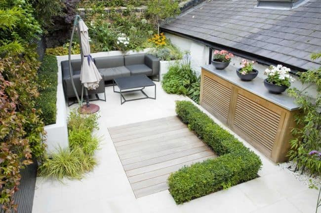 31 Incredible Small Garden Design Ideas on a Budget ... on L Shaped Backyard Layout id=61999