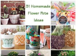 31 Fascinating Homemade Flower Pots Ideas