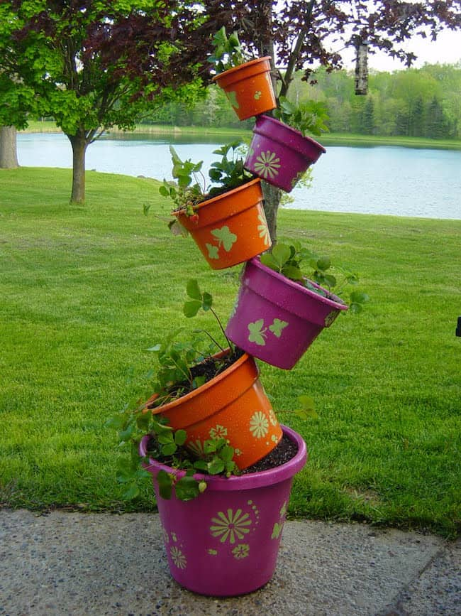 diy tower garden