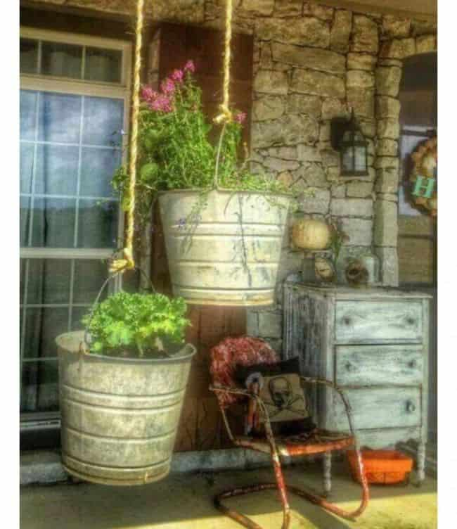 Bucket Bucket gardening ideas
