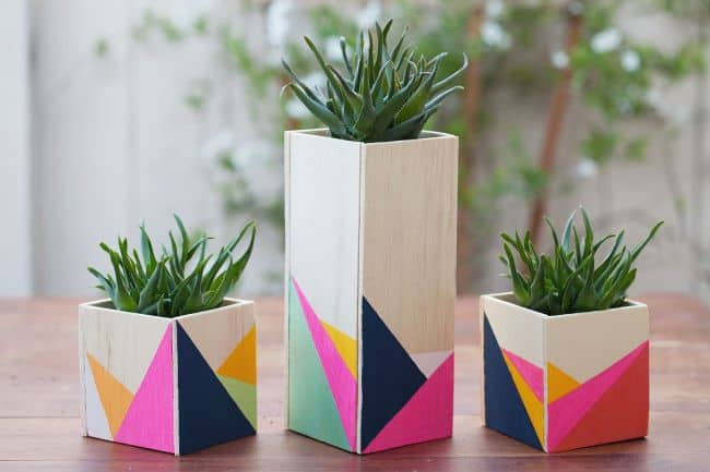 Small Wooden Planter Box
