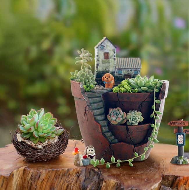 31 Diy Awesome Garden Ideas With Pots And Rocks Gardenoid