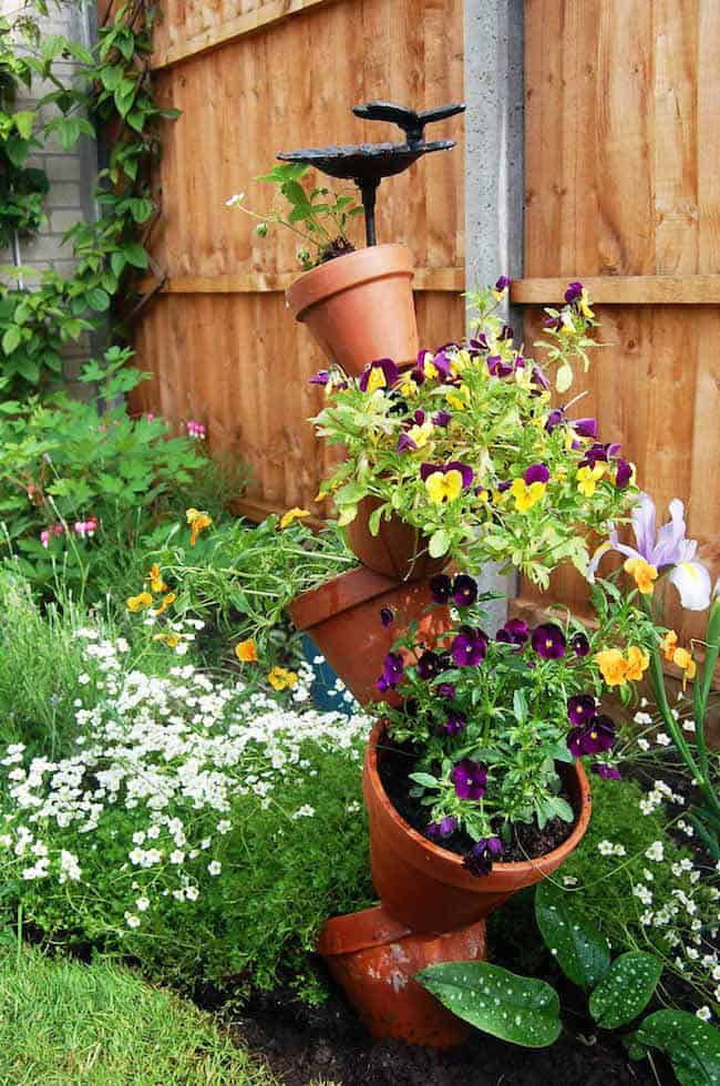 how to make a garden tower from a barrel