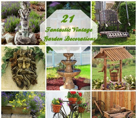 21 Fantastic Vintage Garden Decorations