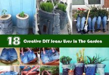 Creative DIY Jeans Uses In The Garden