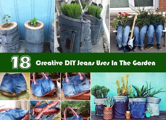 DIY Jeans Uses In The Garden