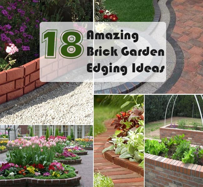 18 Brick Garden Edging Ideas That Looks Amazing Gardenoid