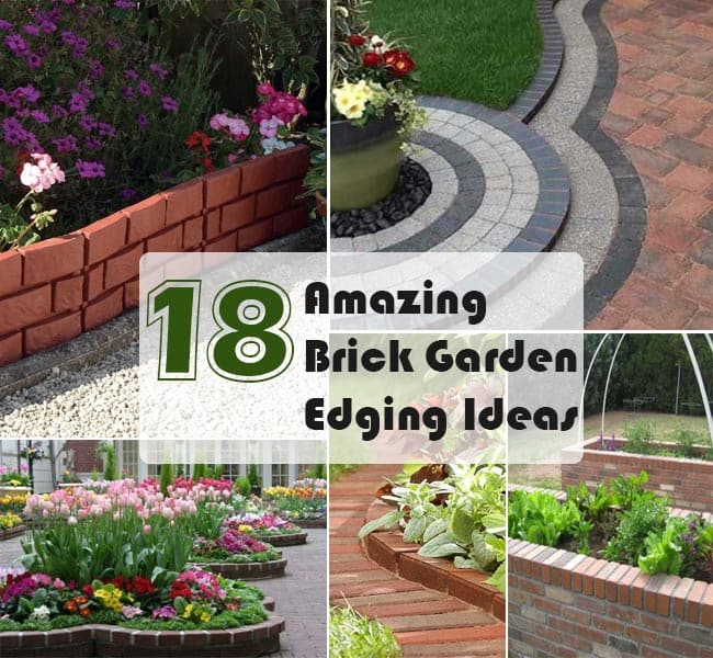 18 brick garden edging ideas that looks amazing gardenoid for Brick garden edging ideas