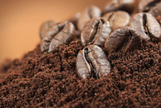 coffee grounds for grass