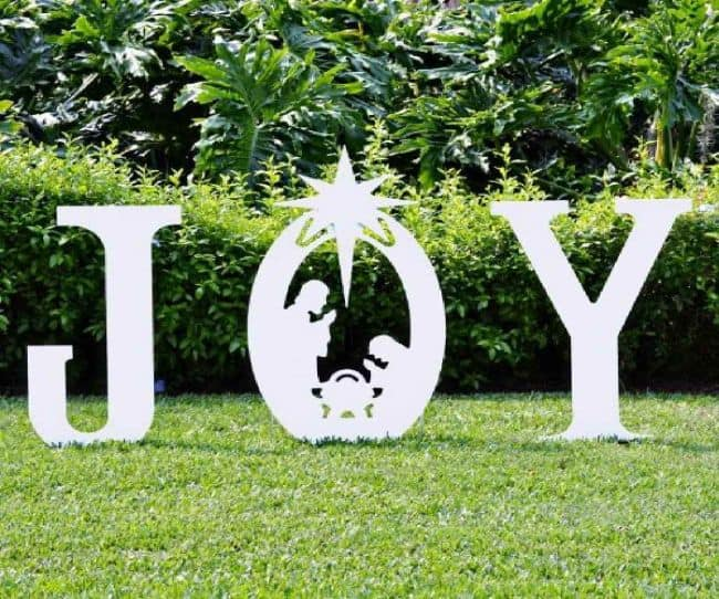31 diy outdoor christmas lawn decorations gardenoid cheap diy outdoor christmas decorations solutioingenieria Images