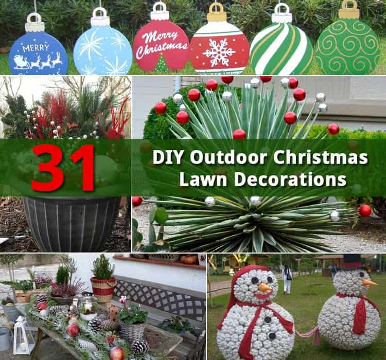 31 diy outdoor christmas lawn decorations gardenoid 31 diy outdoor christmas lawn decorations solutioingenieria