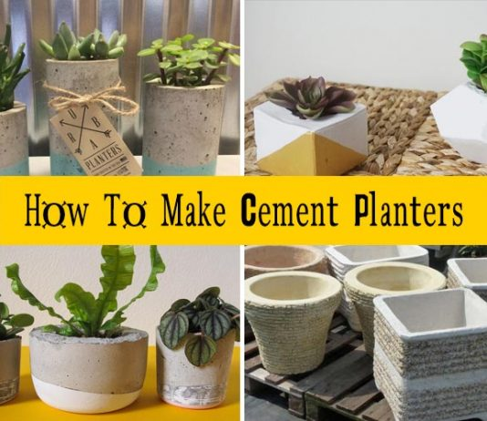 How To Make Cement Planters